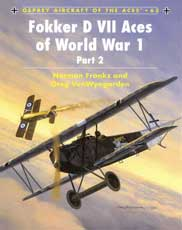 Fokker D VII Aces of World War I, Part 2